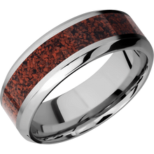 Load image into Gallery viewer, Titanium Wedding Band With Satin & Polish Finish