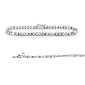 b6151 kc design channel set diamond tennis bracelet set in 14 kt. gold