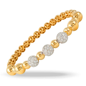 doves diamond fashion collection 18k yellow gold diamond bangle B9164