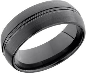 Lashbrook Tungsten Ceramic 8Mm Domed Band