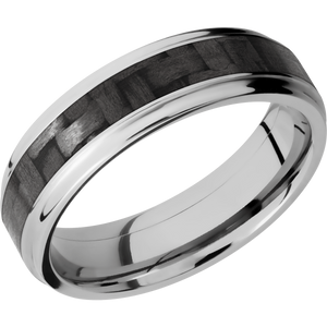 Carbon Fiber Wedding Band With Polish Finish