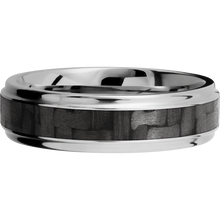 Load image into Gallery viewer, Carbon Fiber Wedding Band With Polish Finish