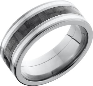 Lashbrook Titanium 8mm Flat Band
