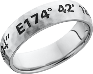 lashbrook cobalt chrome 6mm domed band