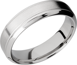 lashbrook classic cobalt chrome 6mm high-beveled band