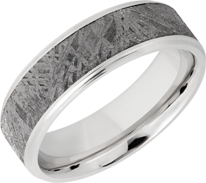 lashbrook meteorite cobalt chrome 7mm beveled band
