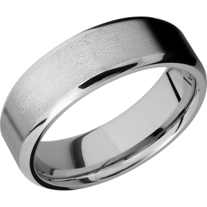 14Kw Wedding Band With Stone & Polish Finish