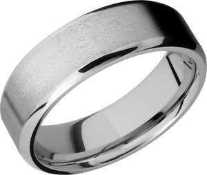 lashbrook cobalt chrome 7mm beveled band