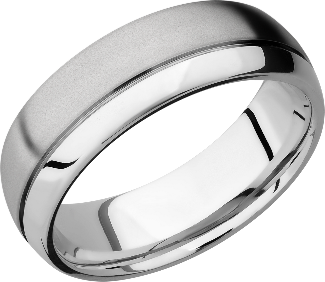 lashbrook cobalt chrome 7mmm domed band