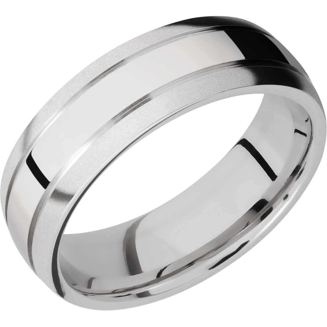 14Kw Wedding Band With Polish & Bead Finish