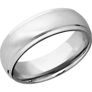 14Kw Wedding Band With Angle Satin & Polish Finish