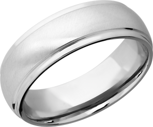 lashbrook classic cobalt chrome 7mm domed band