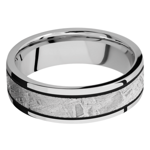 Meteorite Wedding Band With Polish Finish