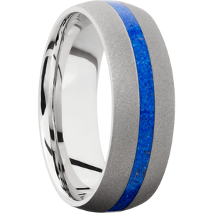 Cobalt Chrome Wedding Band With Sand Finish