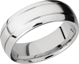 lashbrook cobalt chrome 8mm domed band