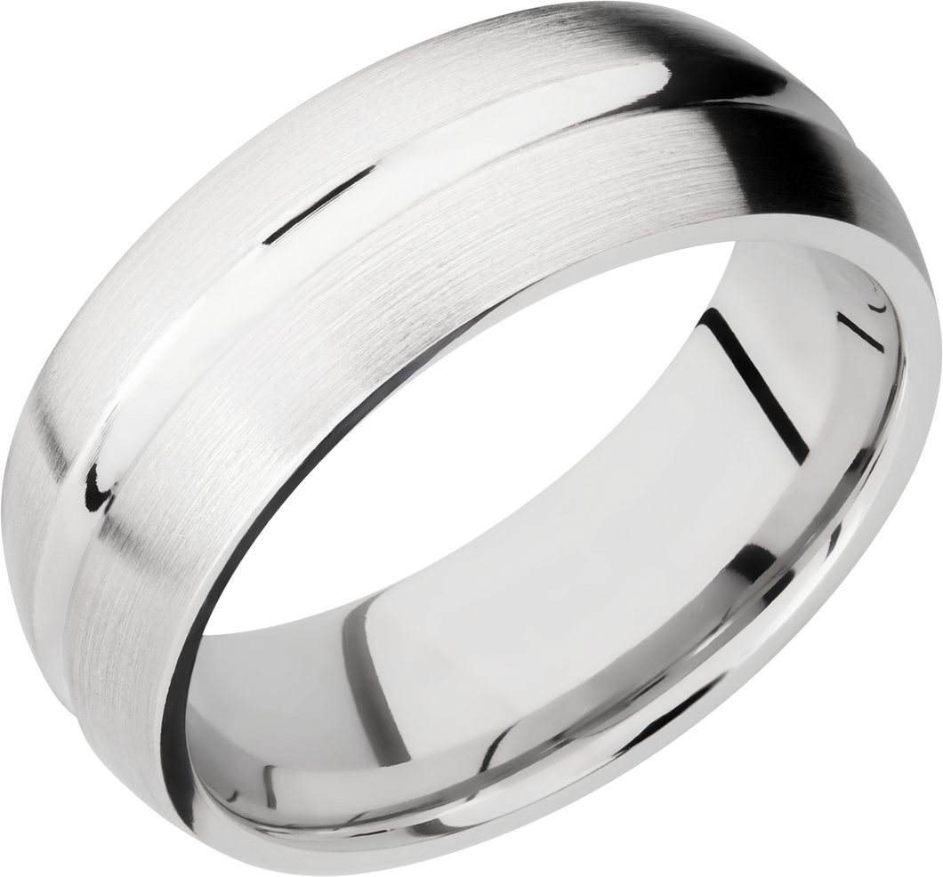 lashbrook classic cobalt chrome 8mm domed concave band
