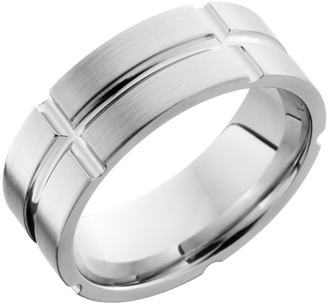 lashbrook cobalt chrome 8mm flat band
