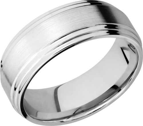 lashbrook classic cobalt chrome 8mm flat band wit two-step edges