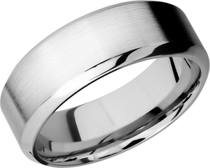 lashbrook classic cobalt chrome 8mm high-beveled band