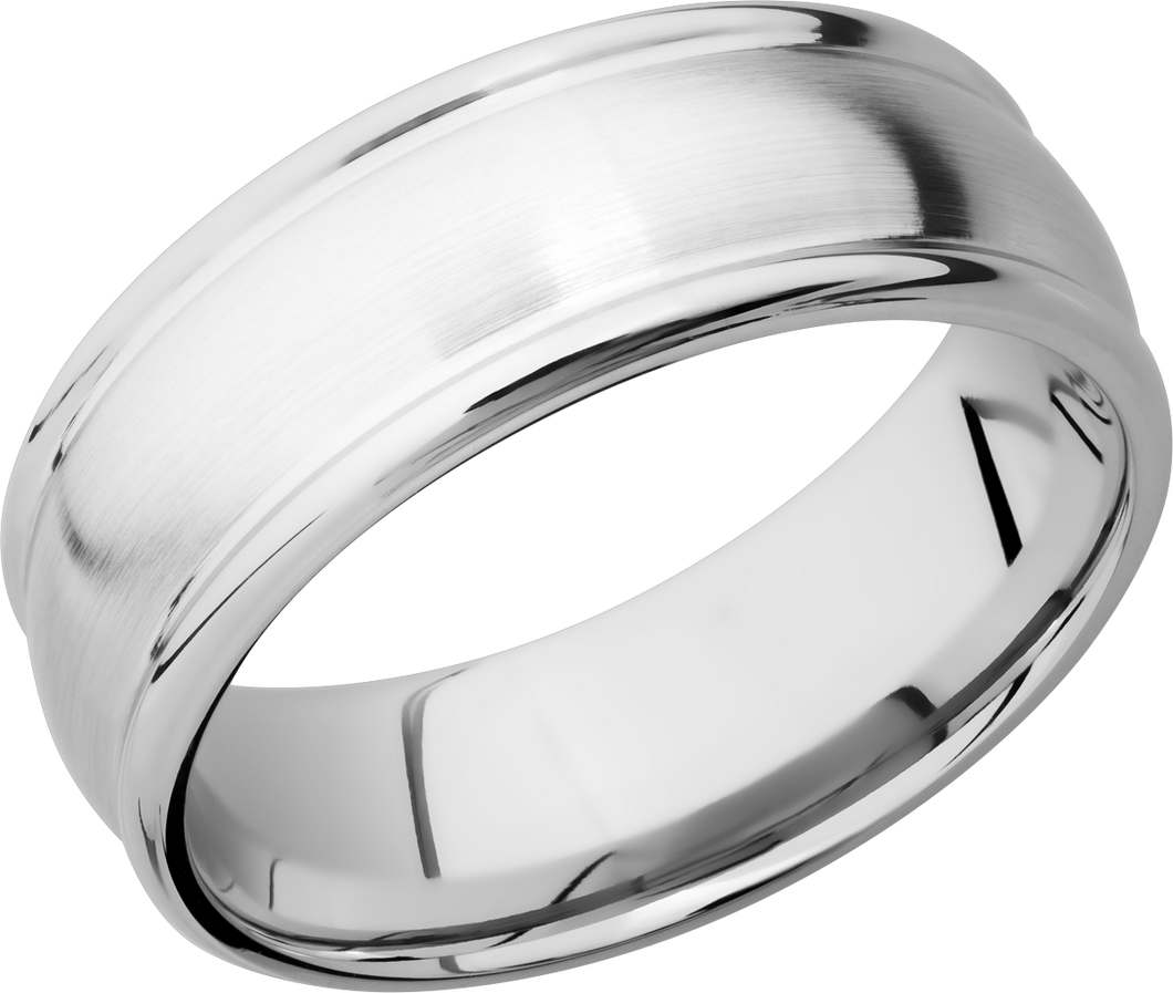 lashbrook classic cobalt chrome 8mm domed band