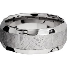 Load image into Gallery viewer, Meteorite Wedding Band With Rock Polish Finish