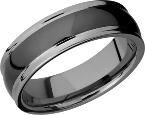 Lashbrook Tungsten And Ceramic 7Mm Domed Band