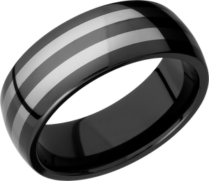 Lashbrook Tungsten And Ceramic 8Mm Domed Band