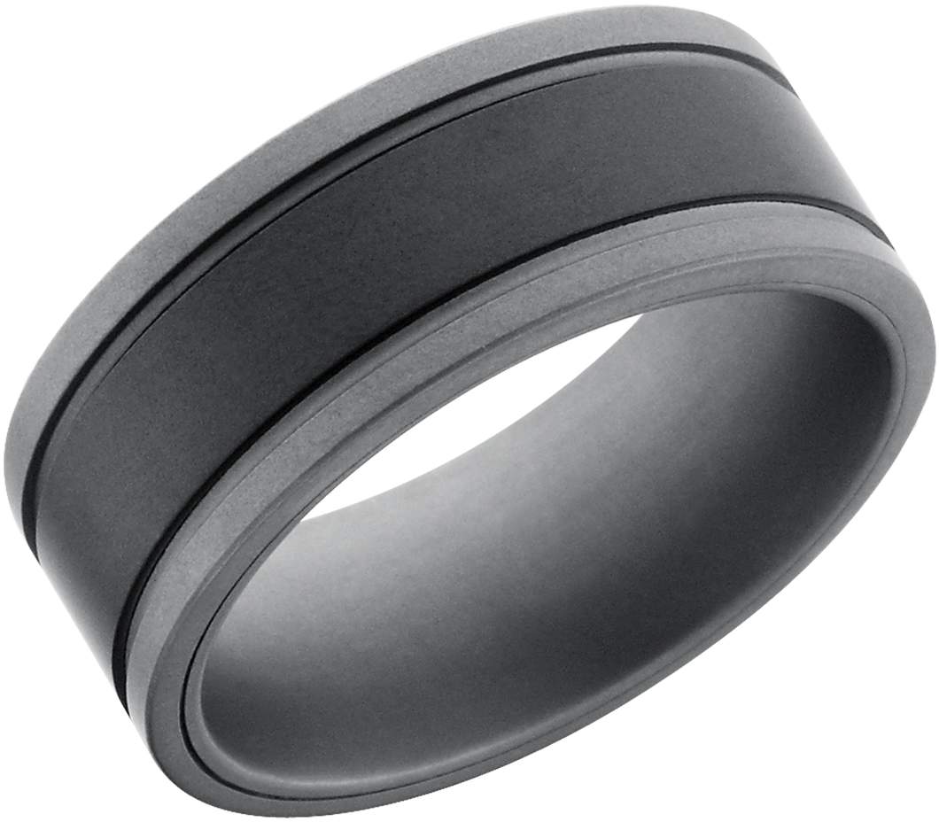 Lashbrook Tungsten And Ceramic 9Mm Flat Band
