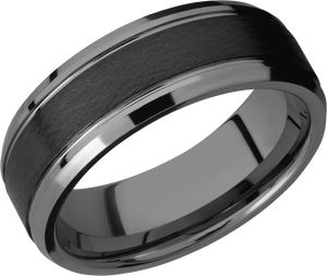 Lashbrook Tungsten Ceramic 8Mm Flat Band