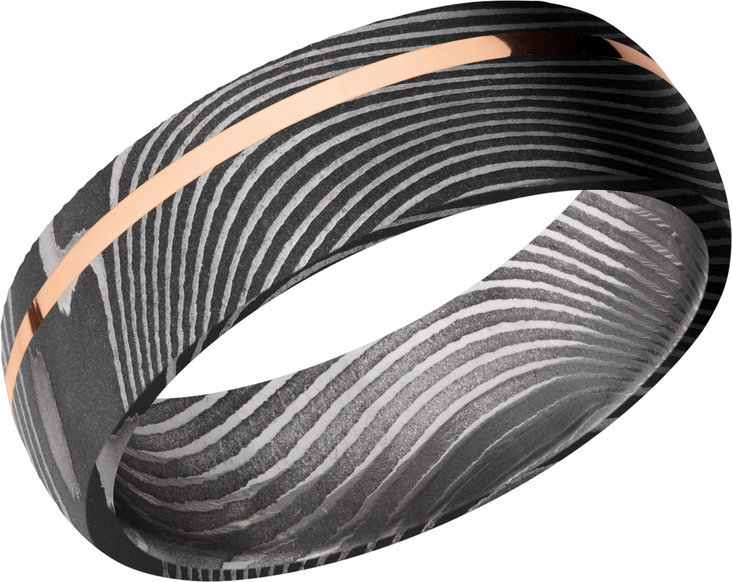 lashbrook damascus handmade 7mm flattwist damascus steel band