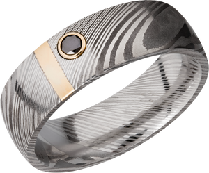 lashbrook damascus handmade 7mm zebra damascus steel band