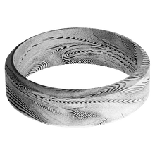 Load image into Gallery viewer, Damascus Wedding Band With Bead Finish