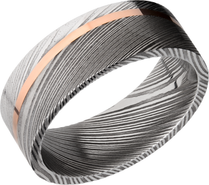 lashbrook damascus handmade 8mm damascus steel band