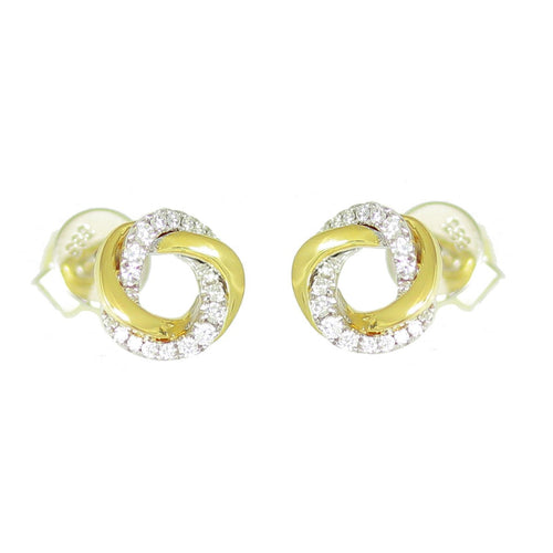 frederic sage diamond studs yellow gold earrings e2242-yw stud earrings