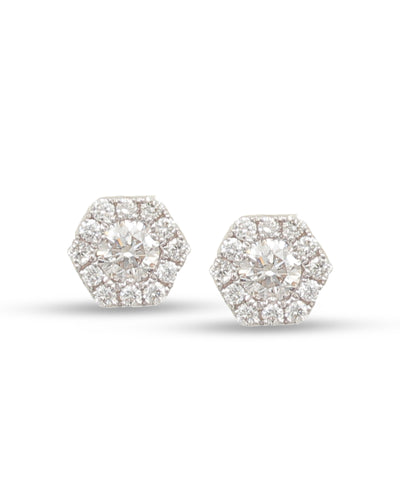 frederic sage diamond studs white gold earrings e2307-w diamond earrings