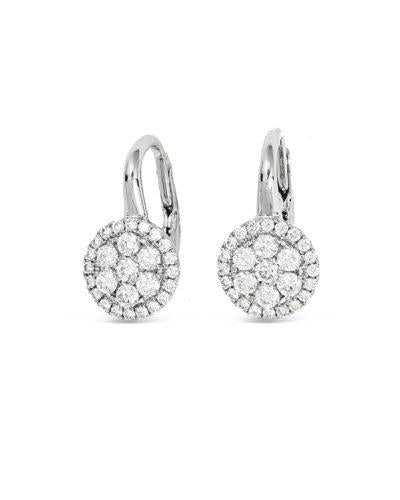 frederic sage diamond white gold earrings e2460-w diamond cluster drop earrings