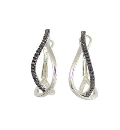 frederic sage diamond hoops white gold earrings e2463kw-w crossover hoop earrings