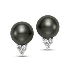 Trilogy Pearl & Diamond Earrings