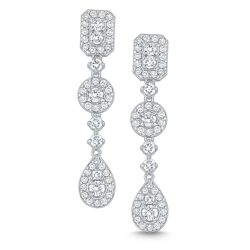 e6456 kc design diamond drop earrings set in 14 kt. gold