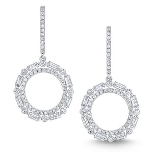 e7383 kc design diamond metropolis circle earrings set in 14 kt. gold