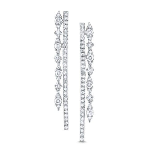e7521 kc design diamond double line miracle marquise earrings set in 14 kt. gold