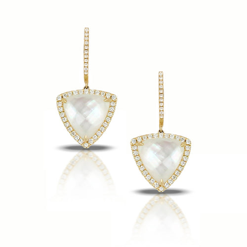 doves white orchid collection 18k yellow gold diamond earrings E7694WMP