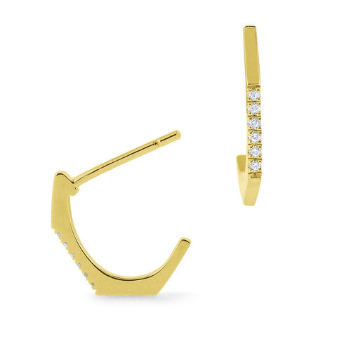 e7854 kc design small gold and diamond geometric hoop earrings