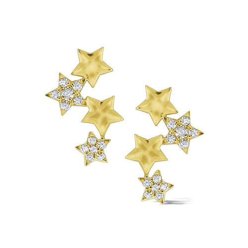 e7862 kc design 14k gold and diamond star climber earrings