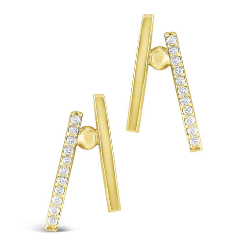 e7899 kc design gold and diamond parallel bar earrings