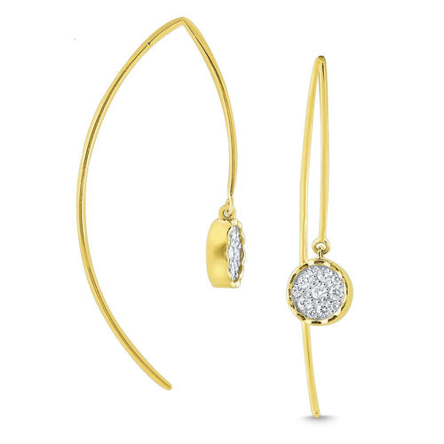 e7946 kc design 14k gold and diamond modern arc earring