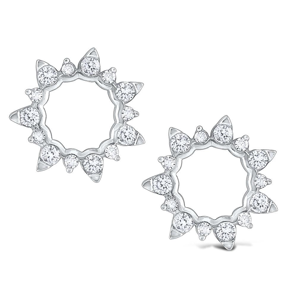 e8279 kc design gold and diamond open starburst circle earrings