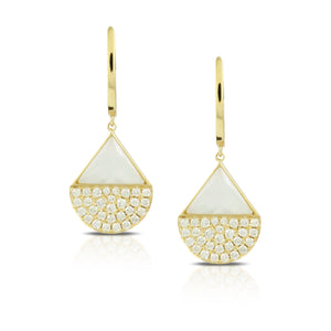 doves white orchid collection 18k yellow gold diamond earring E8398WMP