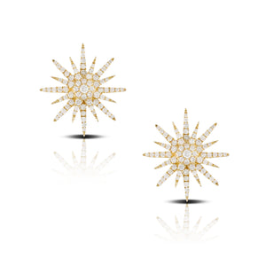 doves diamond fashion collection 18k yellow gold diamond earring E8571