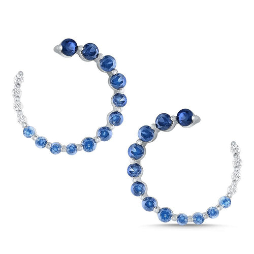 e8655 kc design diamond and blue sapphire ombre arc earrings